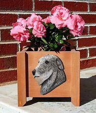 Irish Wolfhound Planter Flower Pot Grey