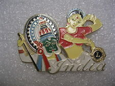 Vintage Lions Club Pin India Belly Dancer Guy with Mask