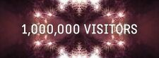 1 MILLION VISITORS /VIEWS FOR SITE STEADY PACE TRAFFIC,HELP IMPROVE TRAFFIC FLOW