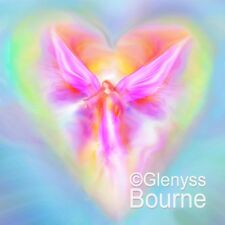 ARCHANGEL Ariel Spiritual Angel Painting Guardian Angel Art by Glenyss Bourne