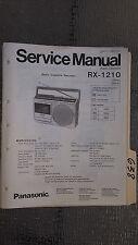 Panasonic rx-1210 service manual original repair book radio tape deck player