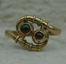 Bague ancienne or 18 carats grenats