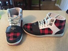 Creative Recreation cesario/ Justin Bieber/ red/black womens sneakers size 8