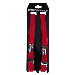 Gothic Rockabilly Metal 70s 80s 90s Punk Oi Ska Red Braces Skinny Suspenders