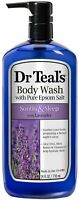 Dr Teal's Pure Epsom Salt Body Wash Soother - Moisturize With Lavender 24 oz 2pk