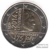 Luxemburg 2014 Stgl./unzirkuliert Auflage: 510.000 2014 2 Euro 175 Jahre Unabhän