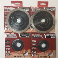 4 X PORCELAIN TILE TURBO THIN DIAMOND DRY CUTTING BLADE / DISC 115 mm GRINDER