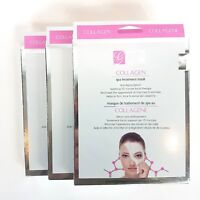 Global Beauty Care Collagen Spa Treatment Mask 3 Pack  6 Facial Treatments Total