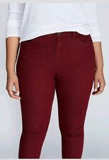 NEW Lane Bryant 16W High Rise Burgundy Red Slim Stretch Jean Jegging pants $50
