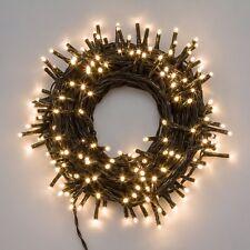 Luci di Natale EXTRALONG 13,1mt cavo verde - 180 miniled BIANCO caldo CLASSIC