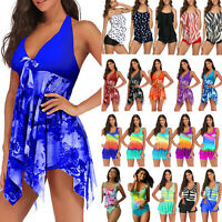 Women Ruffle Tankini Swimdress Swimsuit Beach Bathing Bikini Swimwear Plus Size