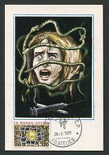 Italia MK 1977 la droga uccide maximum carta carte MAXIMUM CARD MC cm d2208