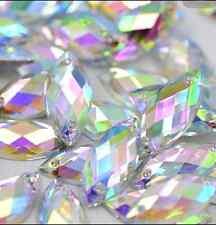 (500 pcs) 7*15mm AB Crystal Acrylic Rhinestones bead  Horse Eyes to dress crafts