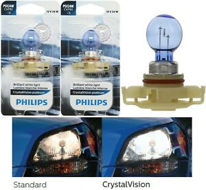 Philips Crystal Vision Platinum PSX24W 2504 24W Two Bulbs Fog Light Replacement