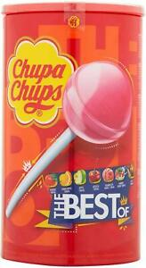 CHUPA CHUPS 100 Variety Best Of TUB Sweets Fun Lolly Candy Strawberry Cream Cola