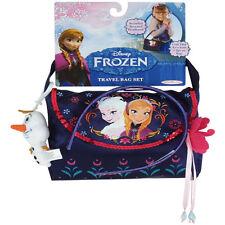 Disney Frozen - TRAVEL BAG SET (Bag, Olaf Plush Clip & Headband) - New