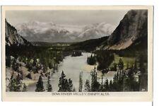 (1303) PHOTO P/C BOW RIVER VALLEY BANFF AB RPPC GOWEN & SUTTON