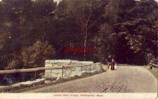 Lackey Dam Bridge Whitinsville, Ma 1909 woman with children