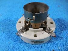 E.F. Johnson nickel porcelain socket for 01-A, 2A3,10, 45 etc four pin tubes