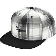 SUPREME Printed Ombre Plaid 5-Panel Cap Black box logo camp safari F/W 14