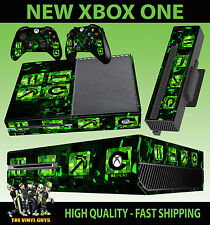 XBOX ONE EAT SLEEP MINE REPEAT CREEPER CONSOLE STICKER SKIN & 2 X PAD SKIN