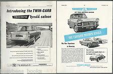 1960 TRIUMPH HERALD advertisements x2, from British magazines