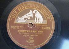 "78rpm 12"" MOURA LYMPANY brahms intermezzo op 117/2 / chopin impromptuC#min op 66"