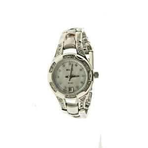 """Relic Crystal MOP Face Watch Stainless 6.5 to 7"""""""