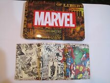 Avengers Iron Man Thor Hulk Tri-Fold Wallet Collector Tin & Patch Marvel 0062