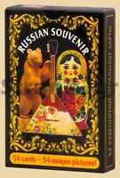 Unique pictures Russian Souvenirs 54 Deck Playing Cards Plastic Coated 55x85 mm