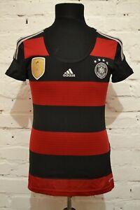 GERMANY AWAY FOOTBALL SHIRT 2014 SOCCER JERSEY TRIKOT WOMAN LADIES ADIDAS FIFA