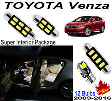 12 Bulbs For Toyota Venza 2009-2016 LED Interior Light Kit Xenon White Room Lamp