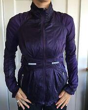Lululemon Size 4 Run Wild Purple Nothin To Hide Lace Mesh Jacket Reflective Hide
