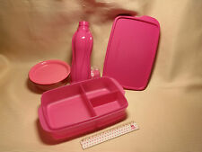 """Tupperware Lunch-Set in neonpink,Trinkflasche,Snack-Box,Obstschälchen """"Rarität"""""""