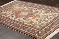 "6'7"" x 9'6"" Vintage Hand Knotted Turkish Oushak Oriental wool Area rug Beige"