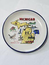 "Vintage Water Wonderland Michigan State 7"" Collectible Soveneir Plate"