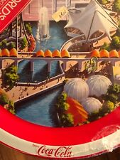 Coca Cola 1982 Worlds Fair Tray in Original Packaging with Booklet