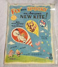 1960s Saalfield Harvey Cartoons Casper's Friend Spooky Ghost Paper Kite Kit
