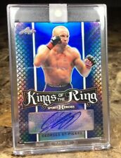 """2018 LEAF METAL/UFC ~ Georges St Pierre (#6/15)~(KINGS OF THE RING) """"BLUE AUTO!!"""