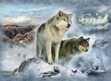 "WOLVES Panel 43x31"" 100% cotton Fabric by Hoffman Call of the Wild ""Glacier"""