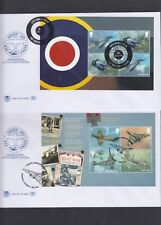 GB 2018 RAF Centenary PSB Prestige Stamp Booklet set 5 full panes Stuart FDC