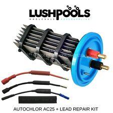 AUTO CHLOR  AC25 Autochlor STD 25AMP Chlorinator Cell + 1/2 Lead Kit K-Chlor