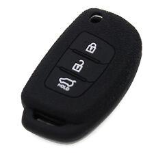 Black Silicone Key Cover fit for HYUNDAI Santa Fe ix45 Smart Remote Key Fob