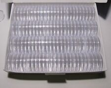 100 x Acrylic round capsules 27mm (Russian 10 roubles Bimetallic)