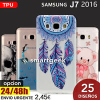 FUNDA TPU Gel dibujos para SAMSUNG Galaxy J7 2016 j710 dibujo printed case color