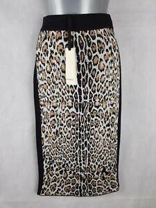 Bnwt Pinko Skirt Size S/8-10 Leopard Print Wool Blend Pencil High Waist Knit