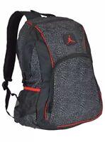 Nike Air Jordan Backpack Laptop Sleeves Side Pockets Padded Black/Red 9A1223-391