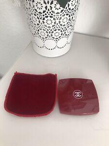 Chanel Make Up Spiegel Taschenspiegel XL Rot Neu