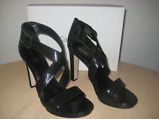 Calvin Klein Shoes Size 10 M Womens New Val Python Black Leather Strappy Heels