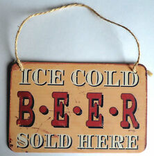 Shabby Retro Vintage Style Small Hanging Tin Metal Kitchen Barbecue BBQ Tag Sign We're Open 24 / 7